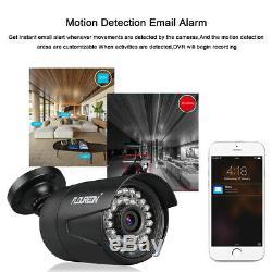 1080P 3000TVL Security Outdoor 8CH 1080N AHD DVR Camera Home CCTV Kit IR 1TB HDD