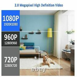 1080P 4CH HD WiFi Security Camera System Wireless Outdoor IP CCTV NVR Kit APP US