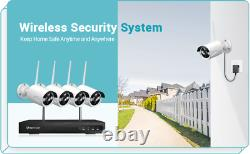 1080P CCTV IP Camera Wireless Wifi System 8CH NVR Home Security Kit Night Vision