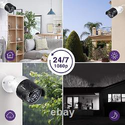 1080P HD Video 16CH 1080P DVR Home IR Security Camera System H. 265+ CCTV 2TB
