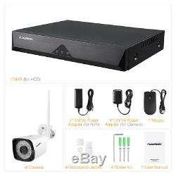 1080P Wireless WIFI NVR H. 265 Outdoor Home IP Camera Night Vision Security Kit