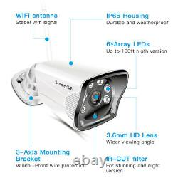 1080P Wireless Wifi 8CH NVR Home Security System outdoor CCTV IP Camera IR CUT