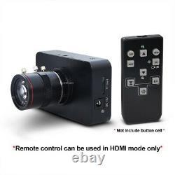 12MP HDMI Camera HD1080P USB Streaming Webcam Recording 4K@30FPS 6-12mm Lens