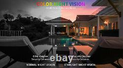 16 Channel 4K NVR 16 8MP PoE AI Color Night Vision Security Camera System 16TB