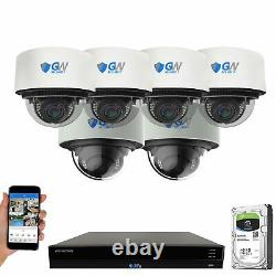 16 Channel 4K NVR 4 x 12MP and 2 x 8MP PoE IP AI Dome Security Camera System