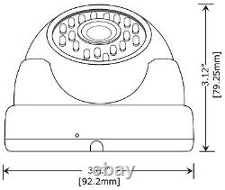 1800TVL indoor/Outdoor Vandalproof metal house Wide Angle Lens Security Camera