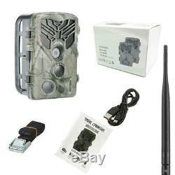 24MP 3G Wildkamera HC-810G Fotofalle Überwachungskamera GPRS 120° HD Jagdkamera