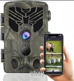 24MP WLAN WiFi 830 Wildkamera Bluetooth Überwachungskamera Fotofalle Jagdkamera