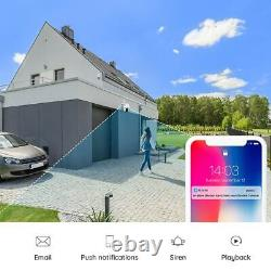 2-Set Wireless Pan/Tilt Smart WiFi Battery Camera 1080p HD Argus PT +Solar Panel