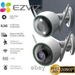 2x EZVIZ Outdoor Security Camera WIFI 1080P Smart Colored Night Vision C3N