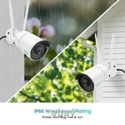 2x Reolink 4MP WiFi IP Security Camera 2.4/5G Dual Band Outdoor Audio RLC-410W