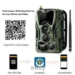 30MP 4G APP Fotofalle HC-801Plus Wildkamera Überwachungskamera Jagdkamera SIM