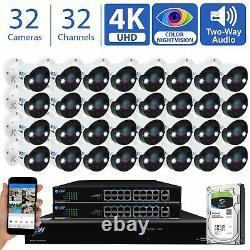 32 Channel 4K NVR 32 X 8MP Starlight 4K Microphone PoE IP Security Camera System
