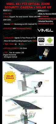 4G Security Camera Solar Wireless GSM Alarm Farm Remote View CCTV Outdoor 3G