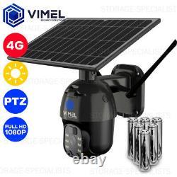 4G Solar Home Wireless Stealth Security Camera Night PIR Sensor PTZ