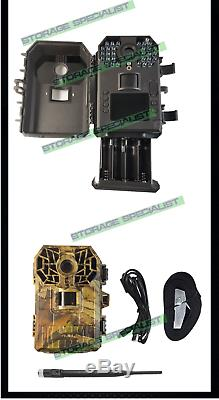 4G Trail Camera Home Security 3G Hunting Farm Guard Solar power Remote Control