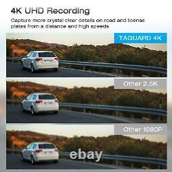 4K GPS 12Mirror DashCam Backup Camera Car DVR Recorder VoiceControl NightVision