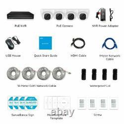 4K Security Camera System 8MP 8CH POE NVR Kit 7/24 Recording 2TB HDD RLK8-800D4