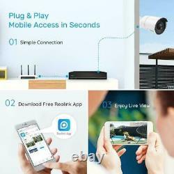 4MP Security IP Camera System 8CH PoE NVR 724 Recording Kit Reolink RLK8-410B4