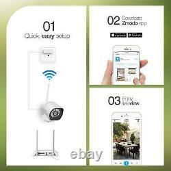 4 Camaras De Seguridad Wifi Exterior 1080P Inalambrica Con Vision Nocturna Video