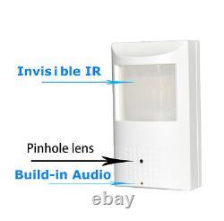 4 MP IP Spy Hidden Motion Detector IP Camera ONVIF Build-in AUDIO Invisible IR
