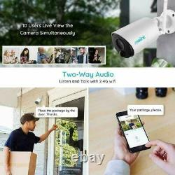 4 Pack Wireless WiFi Security IP Rechargeable Cameras Argus Eco + Solar Power