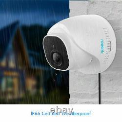 4pcs PoE IP Security Camera 5MP Outdoor Surveillance Weatherproof Audio RLC-520