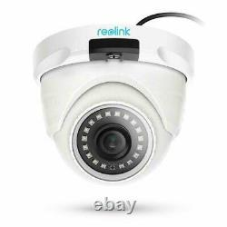 4x Add-on PoE IP Security Camera HD 4MP Audio Outdoor Reolink D400 Work with Kit