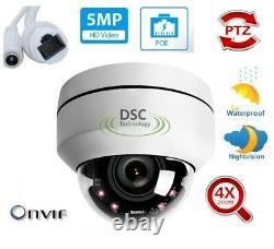 5MP Full HD PTZ IP Camera Outdoor 4X Optical Zoom Mini Speed Dome Cam POE P2P