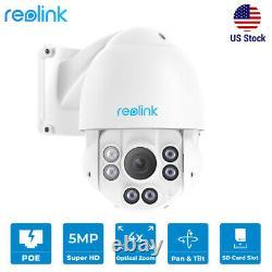 5MP PTZ PoE IP Security Camera Outdoor Pan Tilt 4x Optical Zoom Reolink RLC-423