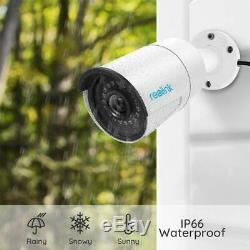 5MP PoE IP Security Camera Clear Night Vision Audio Outdoor Indoor 4pcs RLC-410