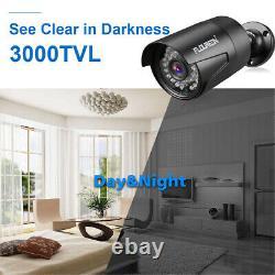 8CH 1080N AHD HDMI DVR Outdoor 3000TVL Home IR CCTV Security Camera System 1TB
