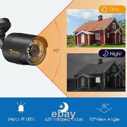 8CH 1080P Home Security Camera System Outdoor IR Night Vision CCTV DVR Kit
