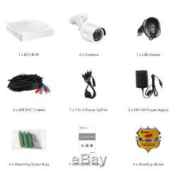 8CH 1080p HDMI DVR 2MP Outdoor IR-Cut Home Security Camera System 2TB Hard Drive