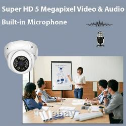 8CH 8MP 4K NVR 8 X 5MP PoE Microphone Human Detection IP Security Camera System