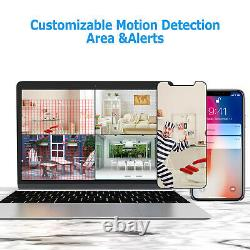 8CH HD 8 Pcs 1080P CCTV Kit NVR Wireless Security Camera System Outdoor wifi 2TB