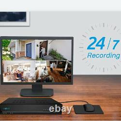 8CH PoE NVR 2TB HDD Network Video Recorder for Reolink Security Cameras RLN8-410