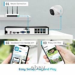 8MP 8CH POE Security Camera System 4K NVR Kit 7/24 Recording 2TB HDD RLK8-800D4