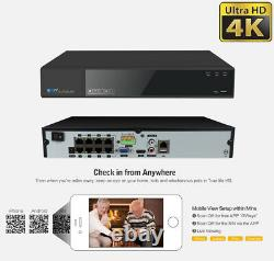8 Channel 4K NVR 6 8MP PoE IP AI Color Night Vision Dome Security Camera System