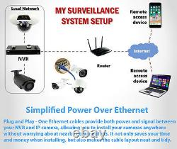 8 Channel 8MP 4K NVR 6 X 5MP 1920P PoE IP Outdoor Home Security Camera System 1T