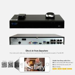 8 Channel 8MP 4K NVR 8 X 5MP 1920P PoE IP Outdoor Home Security Camera System 1T