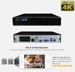 8 Channel 8MP 4K NVR 8 X 5MP PoE Microphone Outdoor Home Security Camera System