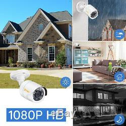 8 Channel H. 265+ 1080p DVR 2MP Outdoor Home Security Surveillance Camera System