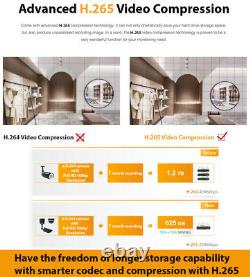 8 Channel NVR 6X 4K 8MP Outdoor Smart AI Face Recognition Security Camera System