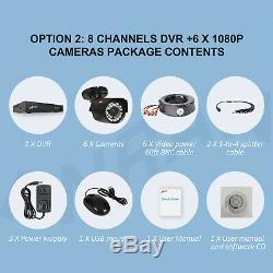 ANRAN CCTV Security Camera HDMI 4CH 6CH 8CH DVR Video Home Outdoor System 1TB HD