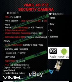 Alarm Home Security Wireless Video Camera 4G 3G GSM/ Anti-theft Burglar System
