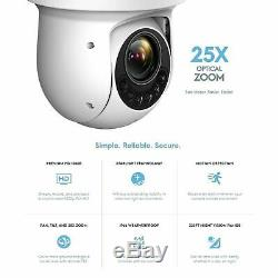 Amcrest 1080P WiFi PTZ IP Camera 25x Optical Zoom Security Surveillance System