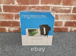 BRAND NEW! Ring Spotlight Cam Security Camera (Black, WIRED) 1 Year Warranty