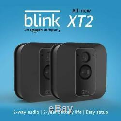 Blink XT2 Outdoor Indoor Smart Camera System 2 Cameras kit + Alexa Free Cloud