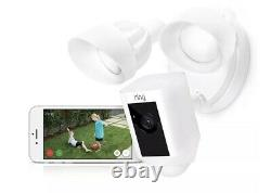 Brand New Factory Sealed Ring Floodlight Security Camera White